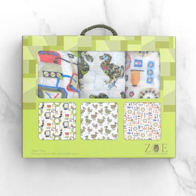 25 x Mechanised Dodos Muslin Three Pack Gift Sets