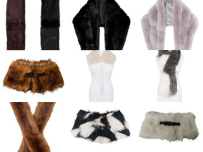 45 Pieces of Faux Fur Collars and Scarves