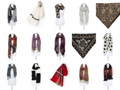 Variety of 46 Scarves and Collars