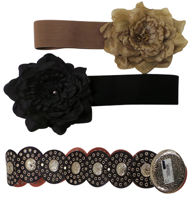 One Off Joblot of 17 Womens Floral/Heart Belts 3 Styles
