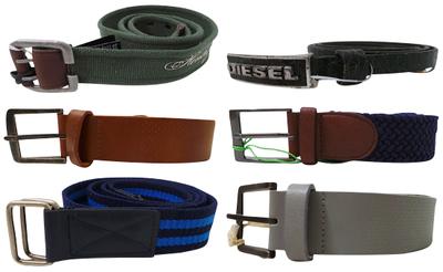 Wholesale Joblot of 10 Assorted Branded Belts - Diesel, Farah, Gio-Goi & More
