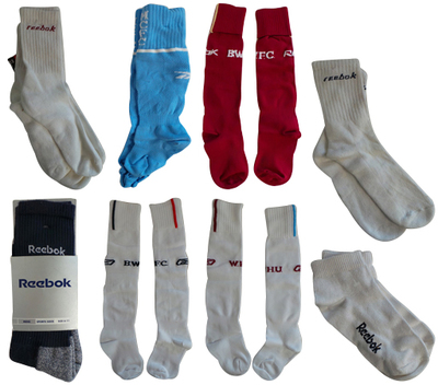 One Off Joblot of 41 Reebok Sports Socks - Bolton Wanderers, Man City & More