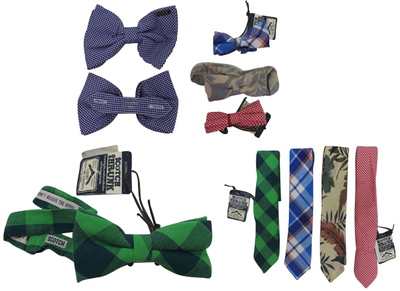 One Off Joblot of 10 Scotch Shrunk Boys Bow Ties & Ties Assorted Styles