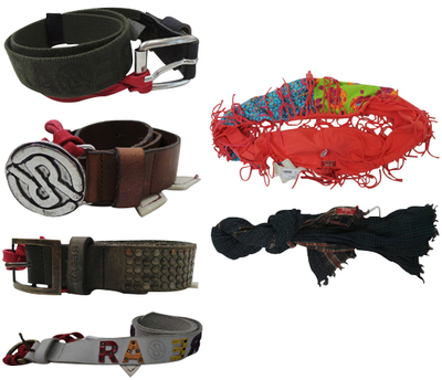One Off Joblot of 7 RA-RE Childrens Belts, Scarf & Snood Boys & Girls