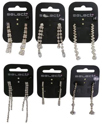 Wholesale Joblot of 50 Ex-High Street Womens Earrings Assorted Styles