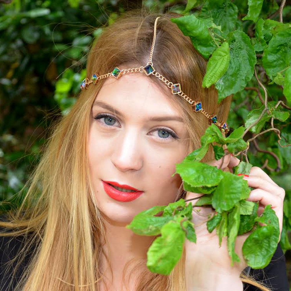 Wholesale 30PCs Hair Head Chain Summer Hair Jewellery - 013