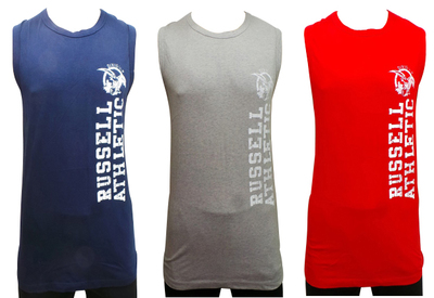 One Off Joblot of 33 Russell Athletic Mens Vest Tops 3 Colours Sizes S-XXL