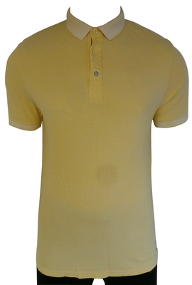 One Off Joblot of 11 Fly53 Mens Yellow Collat Polo Shirt Mixed Sizes