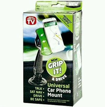 Joblot of 120 x Universal Car Phone Mount - In Car Windscreen Dashboard Phone Mount Holder - 360 Degree Rotating Handsfree GripGo