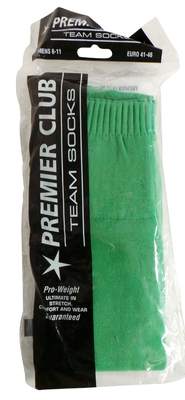 One Off Joblot of 38 Premier Club Green Team Football Socks Mixed Sizes