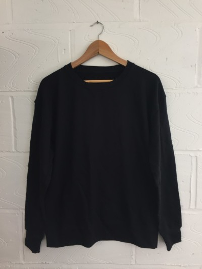 Pack of 10x blank black sweatshirts MEDIUM *UNISEX