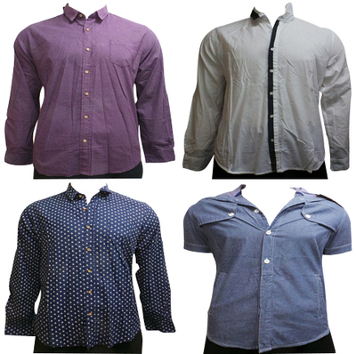Wholesale Joblot of 10 Brave Soul Mens Shirts Mixed Styles Sizes S-XL