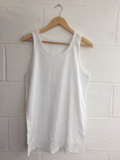 Wholesale Joblot 100x WHITE UNISEX Vests ONESIZE