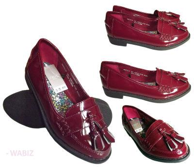 15 X  Top Brand Girls Ladies Patent Tassel Loafers Wholesale/Joblot RRP