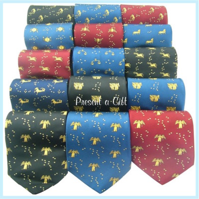 Silk Ties with Birthing Logo X 19 Made in Great Britain