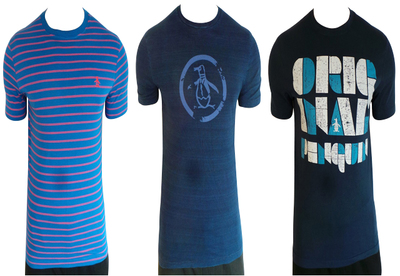 Wholesale Joblot of 9 Original Penguin Mens T-Shirts Mixed Styles & Sizes