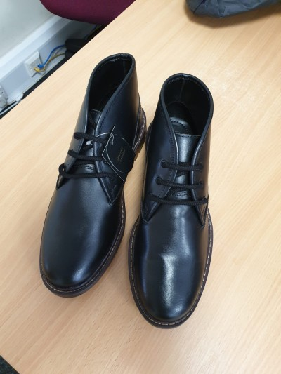Mens Leather Boots Black and Tan Various sizes