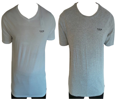 One Off Joblot of 9 Firetrap Mens T-Shirts V-Neck & Crew Neck 4 Colours