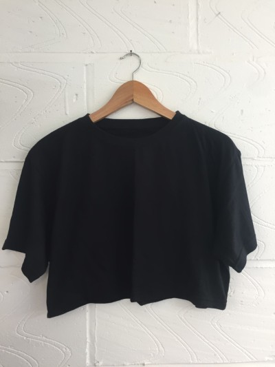 Wholesale Joblot 50x BLACK UNISEX Crop T SHIRTS XSmall, Small, Medium Or Large