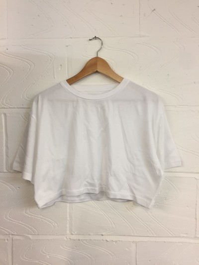 Wholesale Joblot 100x WHITE UNISEX Crop T SHIRTS XSmall, Small, Medium Or Large