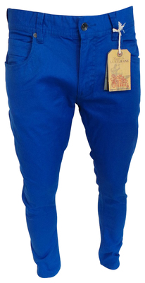 One Off Joblot of 10 Luke 1977 Mens Vacuum Jeans Royal Blue Various Sizes