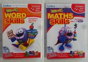 Wholesale Joblot of 50 Braintastic! Word Skills & Maths Skills Win/Mac CD