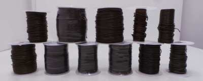 Joblot of 520m of Mixed Brown High Quality Round Leather Cords 1mm Wide