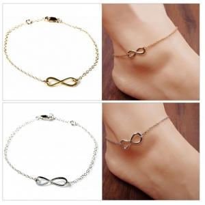 Wholesale Joblot of 10 Ladies Infinity Anklets 3 Colours