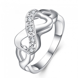 One Off Joblot of 17 Ladies Cubic Zirconia Crystals Immensity Ring Silver