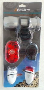 Wholesale Joblot of 20 Gear'd LED Light with Micro Light Set For Bikes