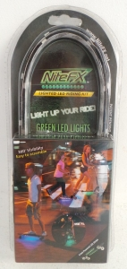 Wholesale Joblot of 48 Nite FX Green Ride Light For Bikes, Skateboards & Scooter