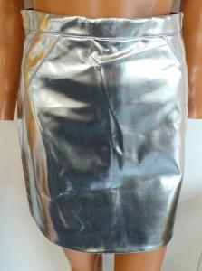 Wholesale Joblot of 20 Ex-High Street Silver Metallic Womens Skirts Sizes 6-16