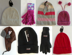 One Off Joblot of 17 Mixed Adults Winter Accessories - Hats & Gloves
