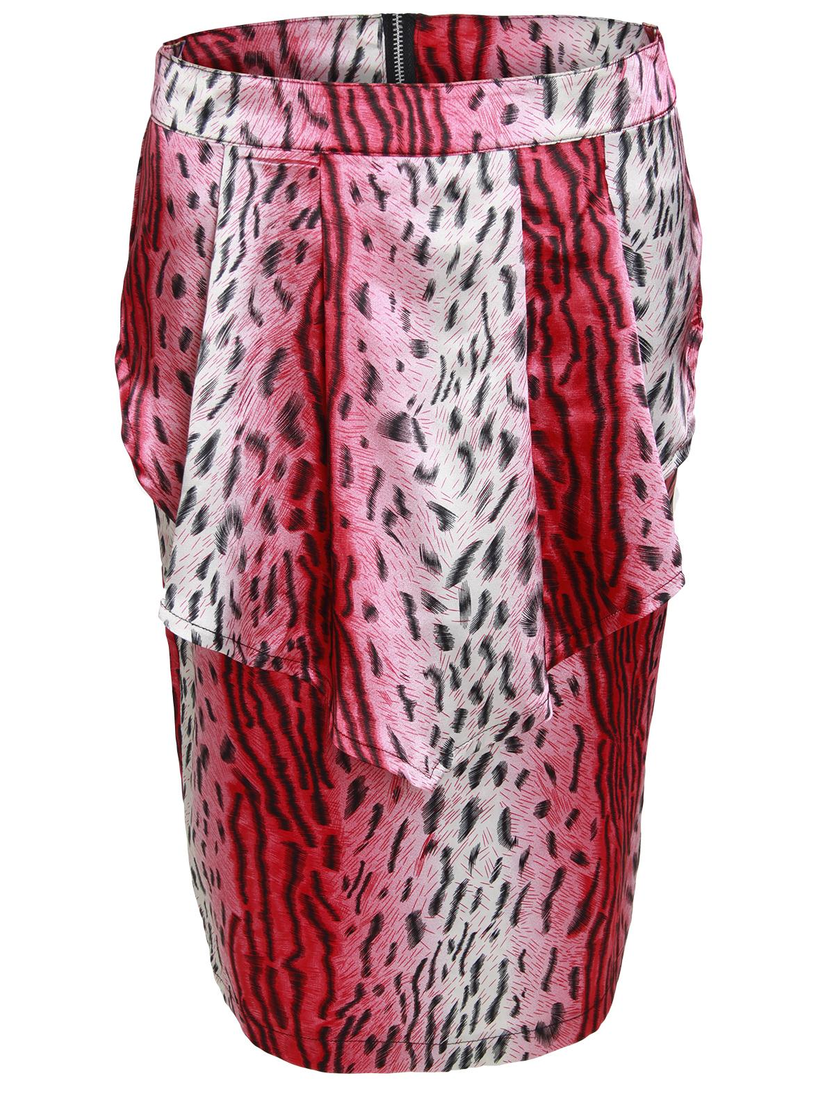 Wholesale Joblot of 12 Ladies Leopard Printed Vintage Peplum Frill Midi Skirt