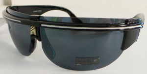 Wholesale Joblot of 20 Raised White Stripe Detail Black Sunglasses SG-169