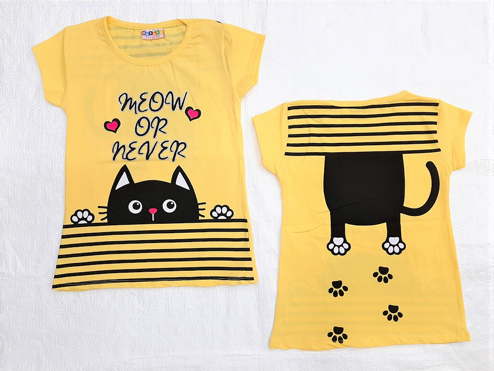 Wholesale Joblot of 48 Pcs Girls T-Shirts / 3 Mix Designs / 4 Colours / 9-10-11-12 Years