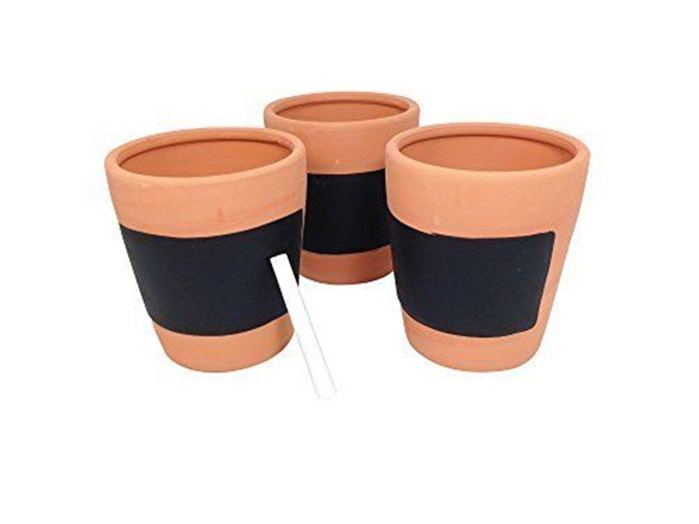 Wholesale Job Lot Box of 12 Gardman Set of Three Terracotta Herb Pots