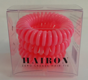 Wholesale Joblot of 30 Packs of Hairon Zero Crease Pink Hair Tie (3 In Each)