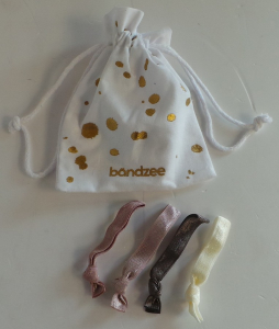Wholesale Joblot of 30 Packs of Bandzee Hair Ties in Pouch (4 In Each)