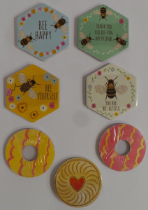 Wholesale Joblot of 100 Sass & Belle Hexagon Bee & Biscuit Nail Files