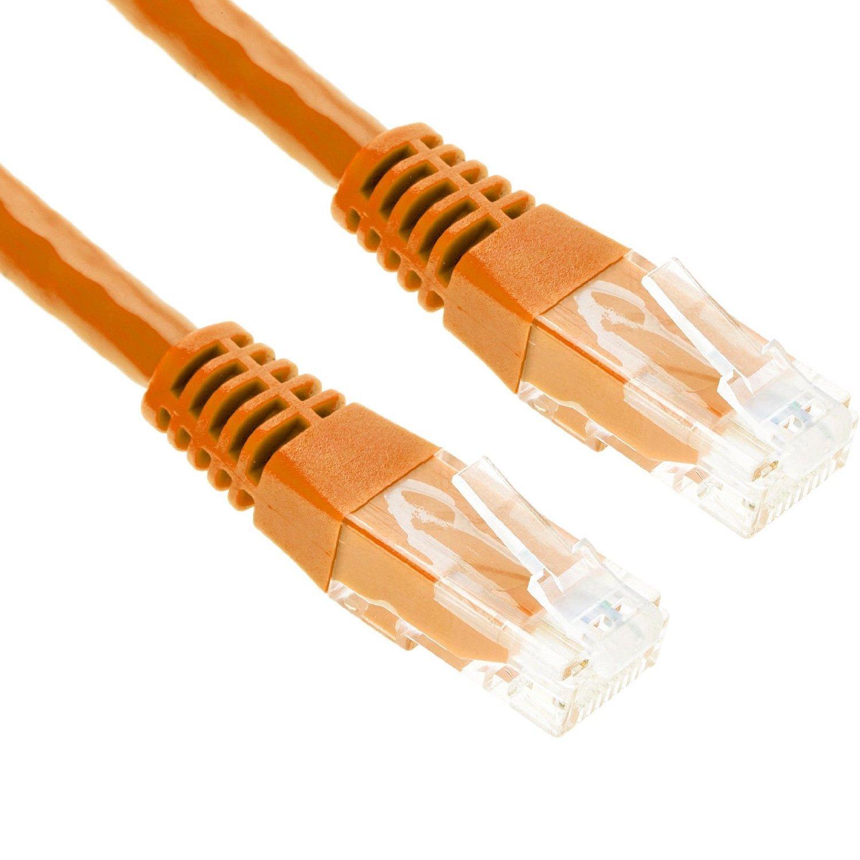 Wholesale Joblot of 50 Cat5e 2 Metre Ethernet Cables - Orange