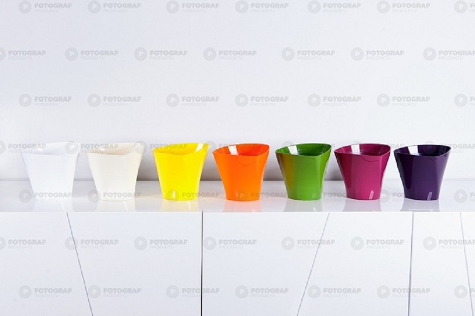 flower pots mixed colour twister set of 12(4 medium/4 large/4 x-large)