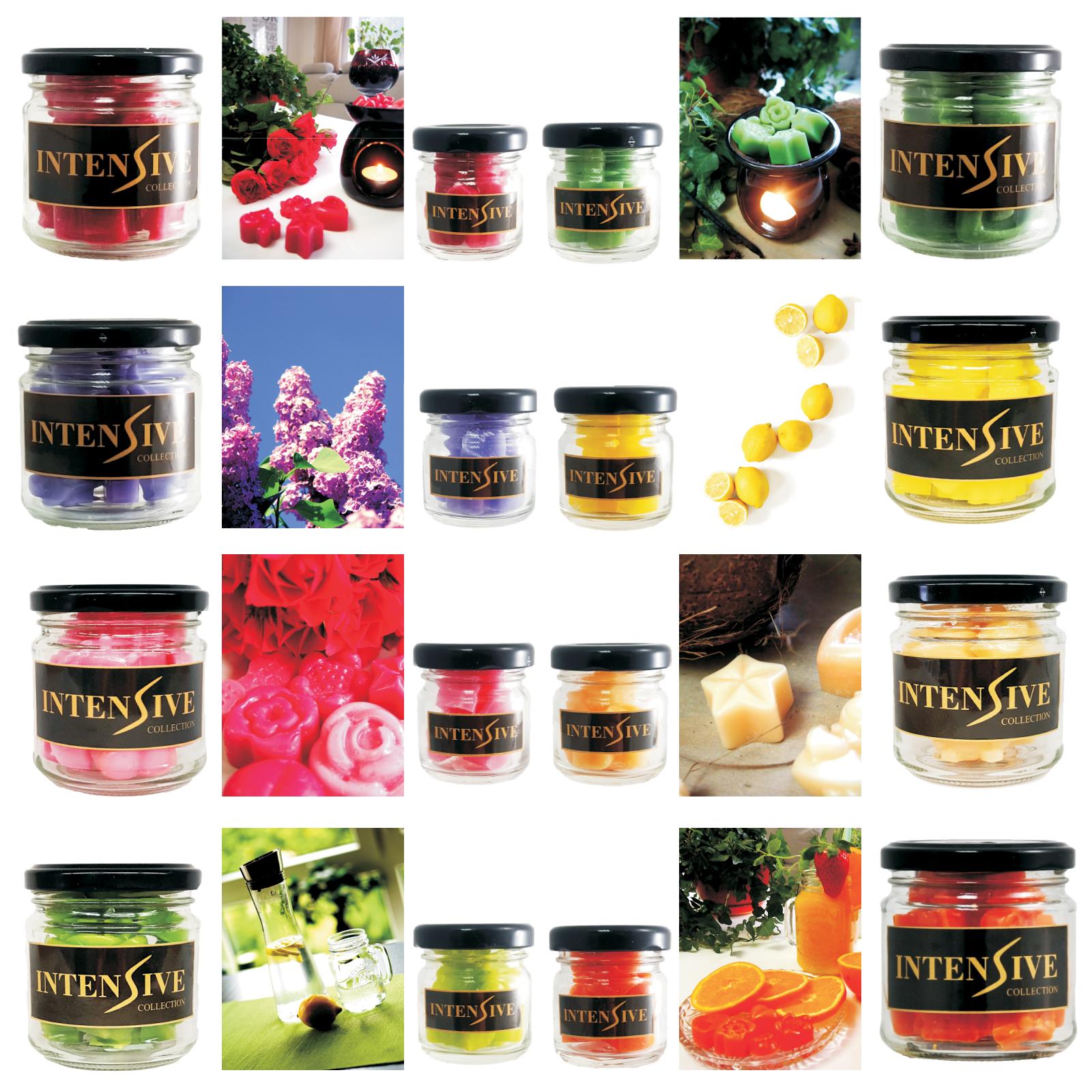 Small Intensive wax melts 40 jars mixed scents