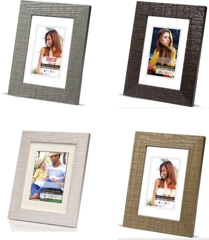 Rustic Texture Picture Holder Photo Family Frame mix of 10 sizes and colours