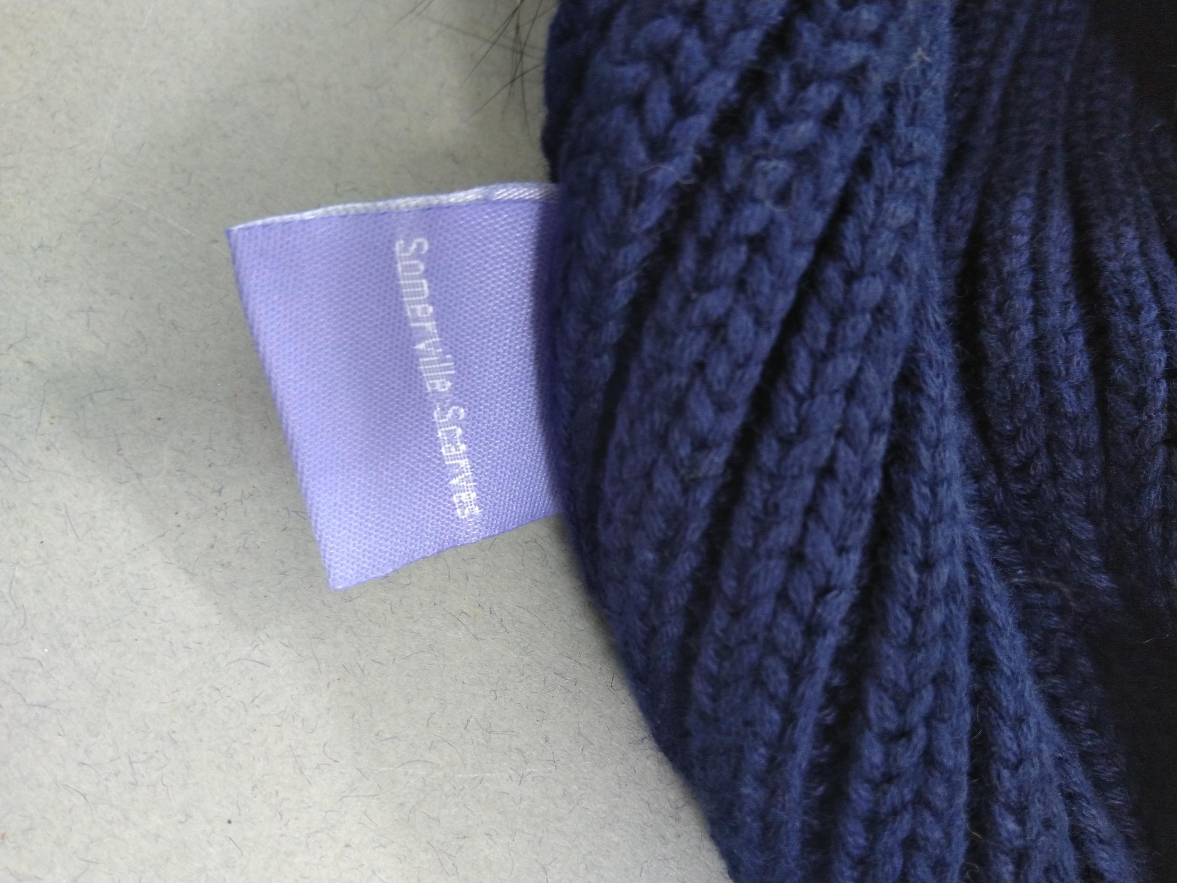 Job Lot Of Sommerville Scarves 6 Black & 3 Navy With Fur Pom Poms Brand New