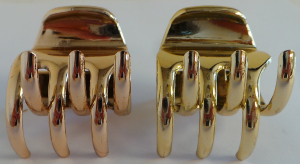 Wholesale Joblot of 30 Hair Claw Clips Gold & Rose Gold (Packs of 2)