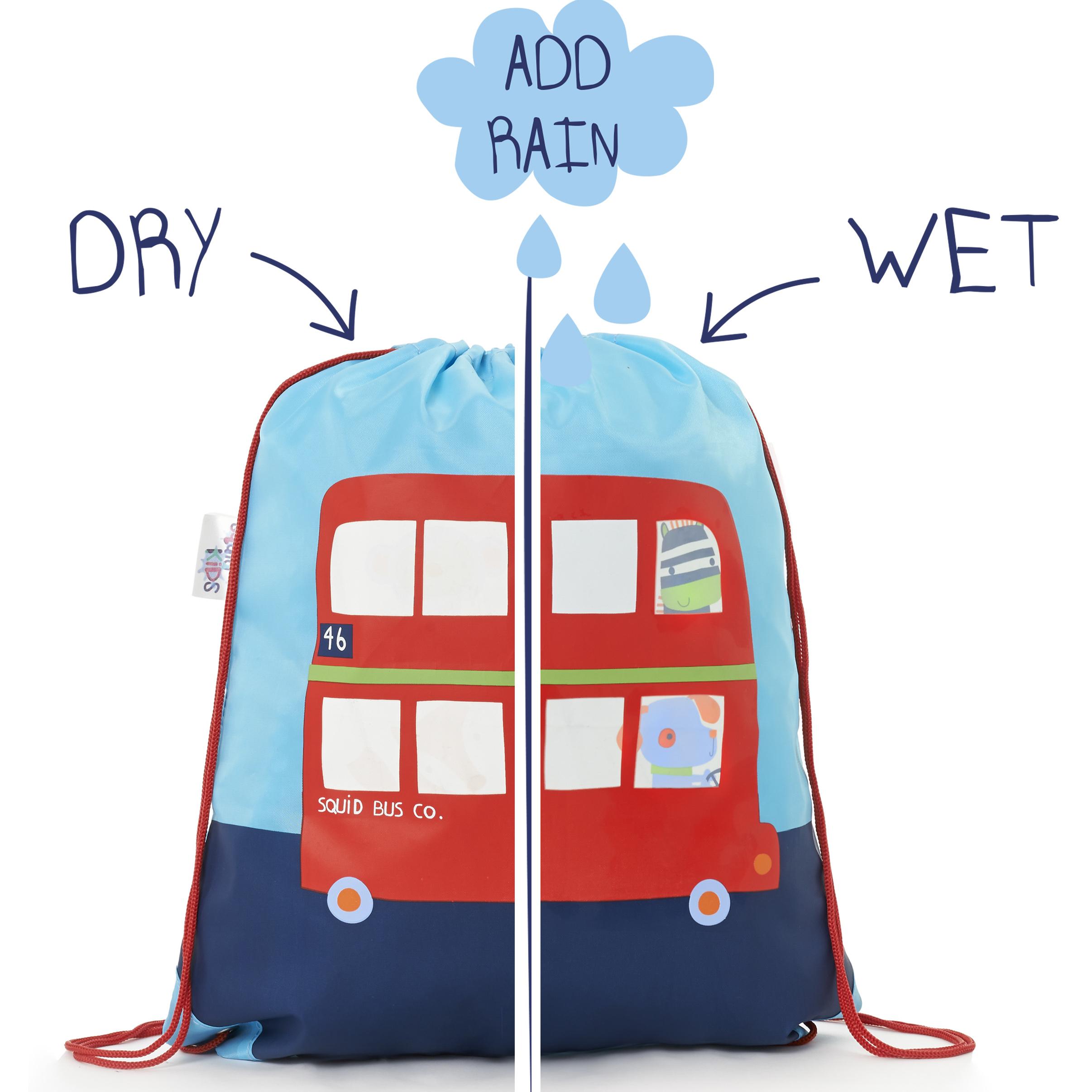 Kids Bus Colour Changing Drawstring Bag