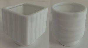 One Off Joblot of 67 Porcelain White Stripe Candle Holders 2 Styles