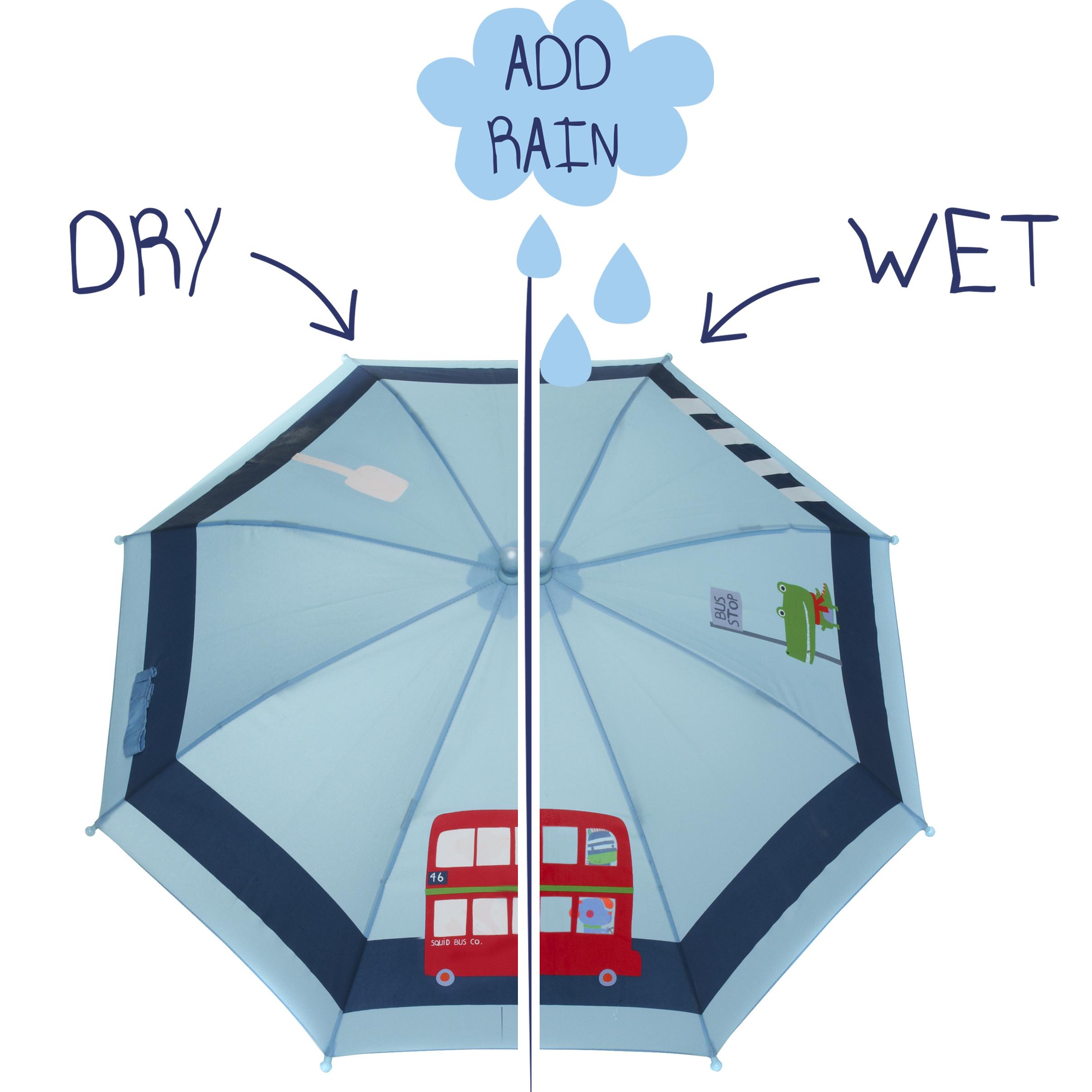 Kids Colour Changing Umbrella Bus