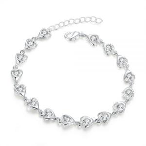 One Off Joblot of 5 Ladies Enola Heart Bracelets 925 Silver